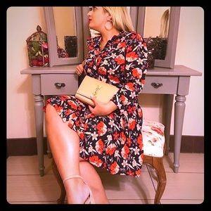 Zara floral button down dress worn 1x!
